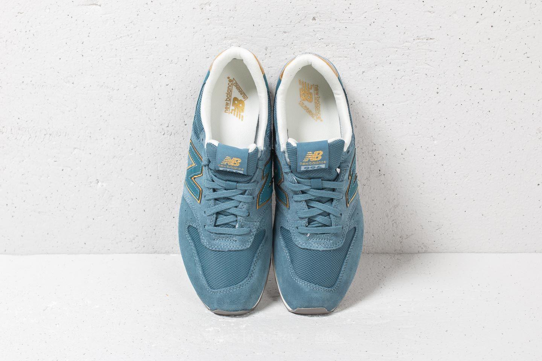 new balance wr996 bleu gold
