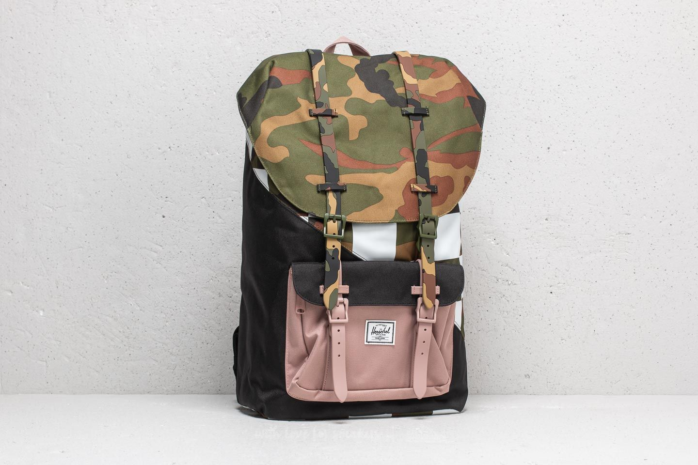 5d7e5647b45 Herschel Supply Co. Little America Backpack. Woodland Camo  Checker