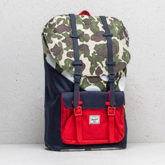 6f0b7d30618e Herschel Supply Co. Little America Backpack Frog Camo  Barbados Cherry  Polka  Dot - Kaleidoscope