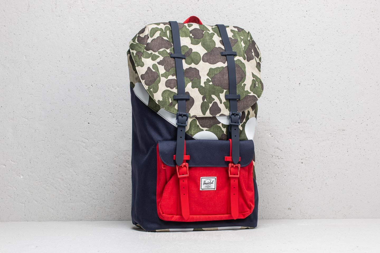 5c77379c1783 Herschel Supply Co. Little America Backpack Frog Camo  Barbados Cherry  Polka  Dot -