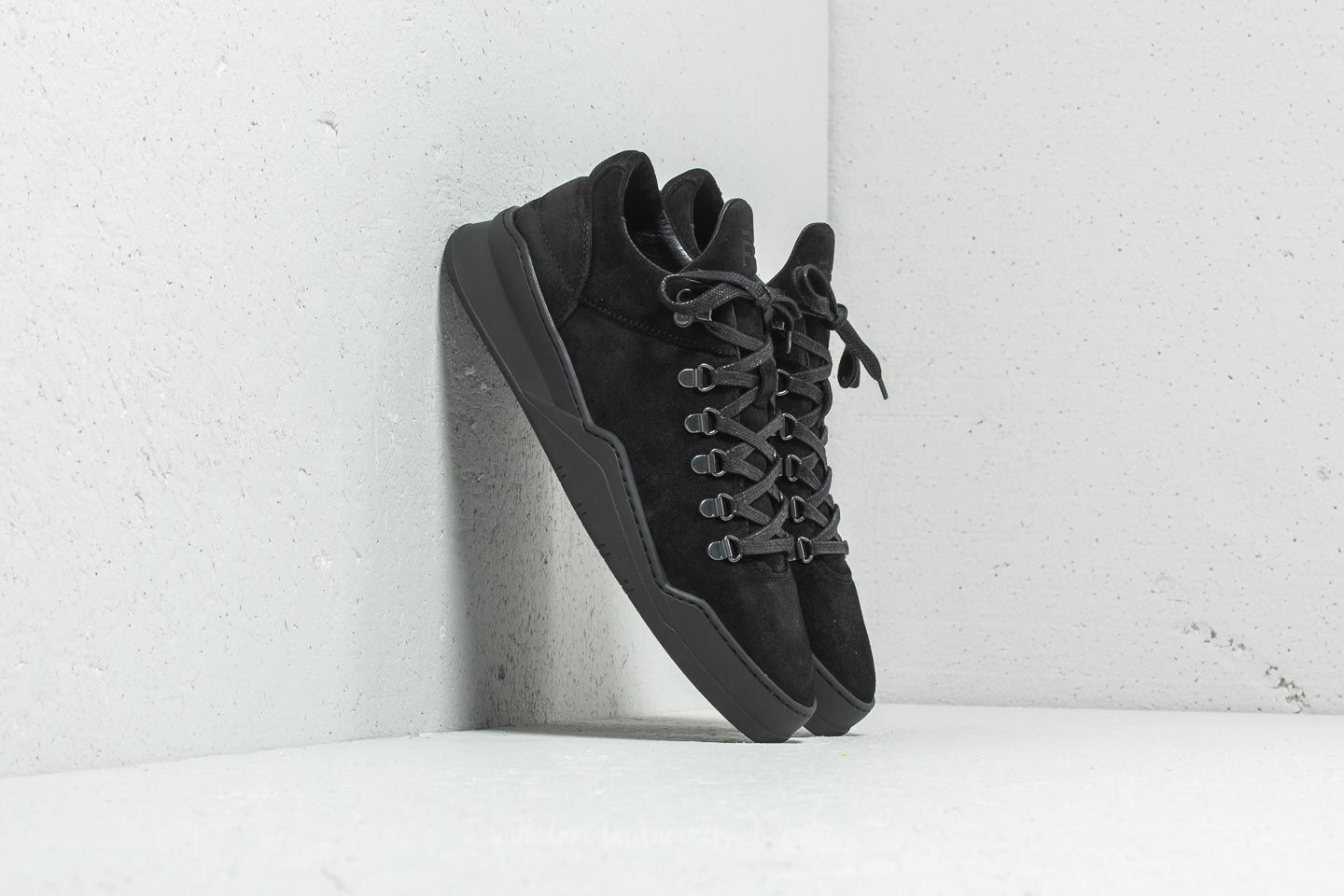 Filling Pieces Mountain Cut Ghost Waxed Suede All Black