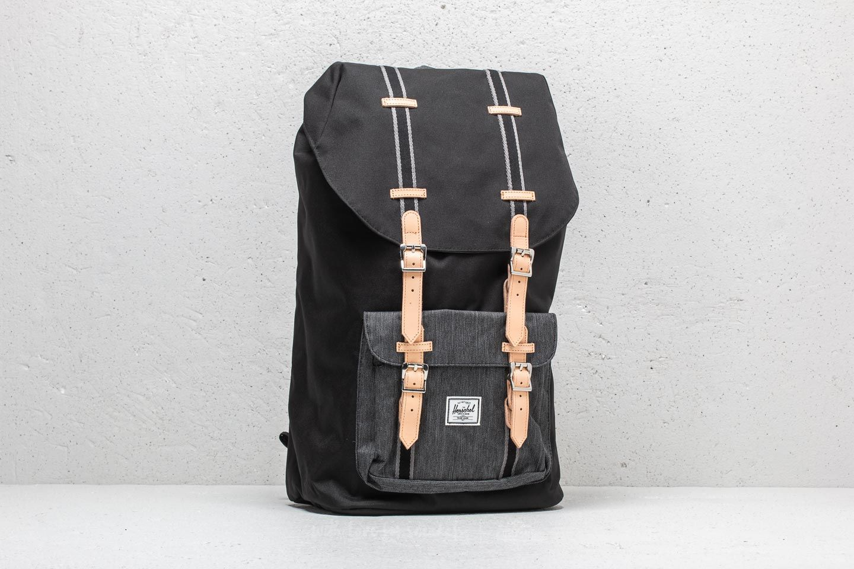 2aa06ce8053 Herschel Supply Co. Little America Backpack Black  Black Denim ...