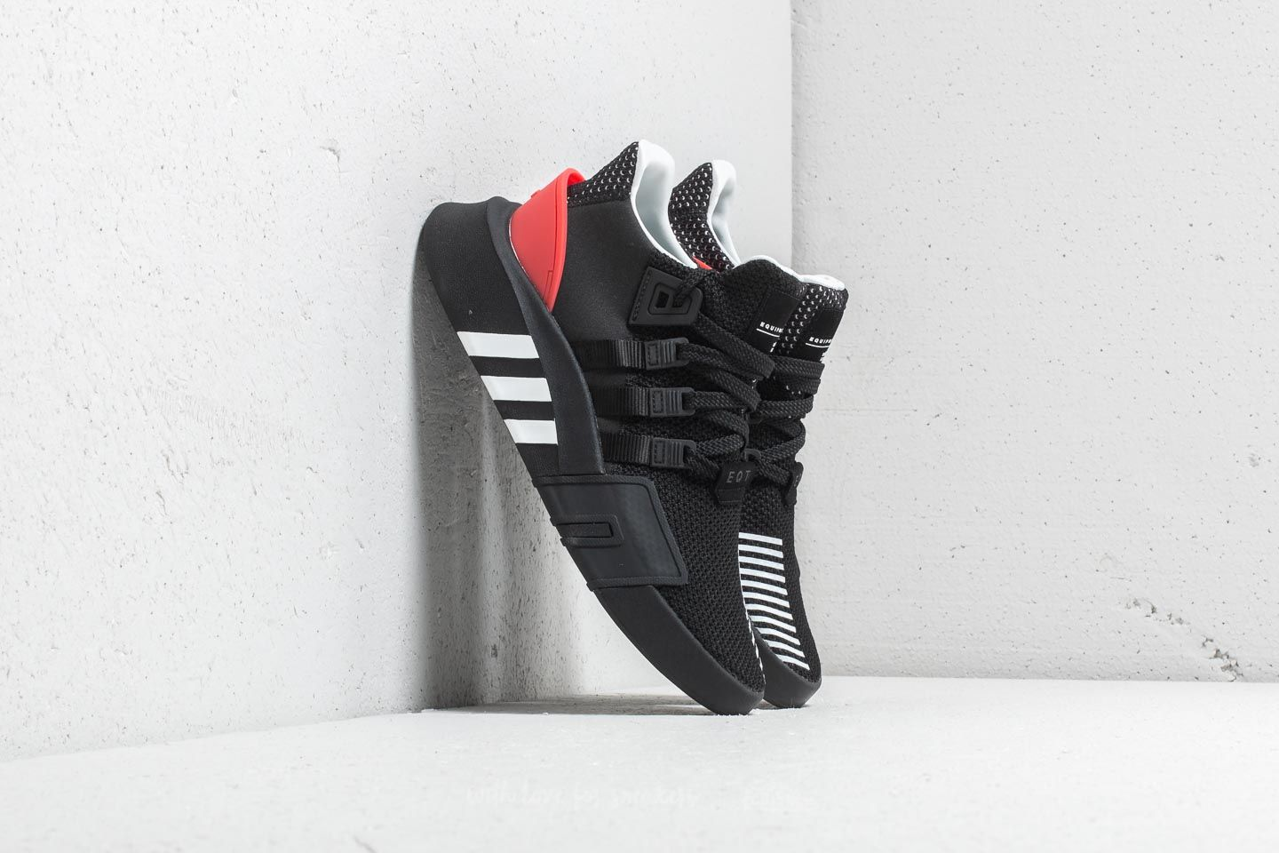adidas EQT Bask ADV Core Black Ftw White Hi Res Red | Footshop