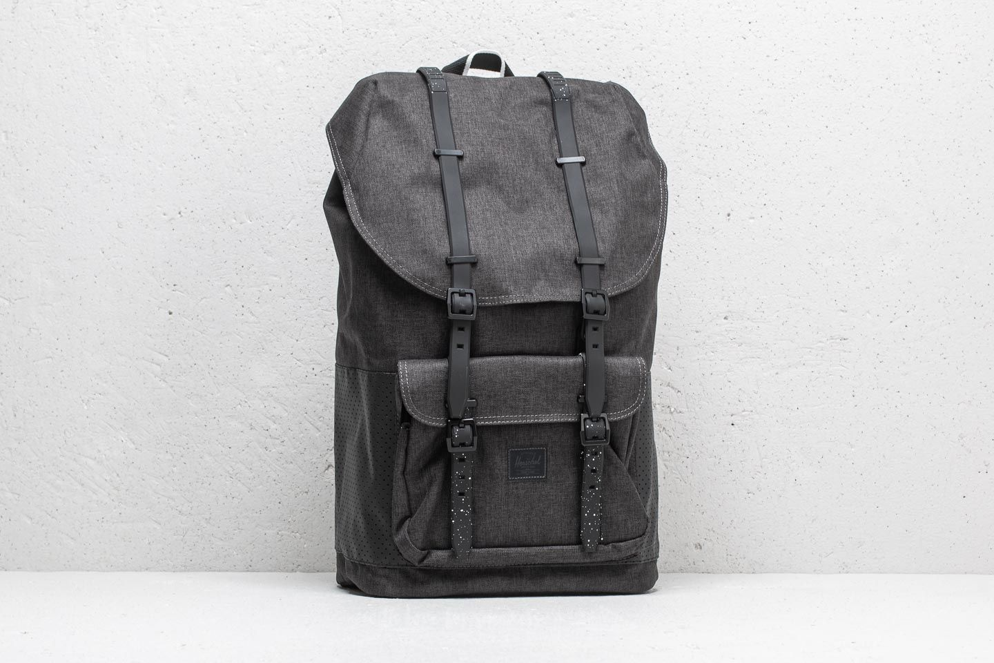 95455de3428 Herschel Supply Co. Little America Backpack. Black Crosshatch  Black  White