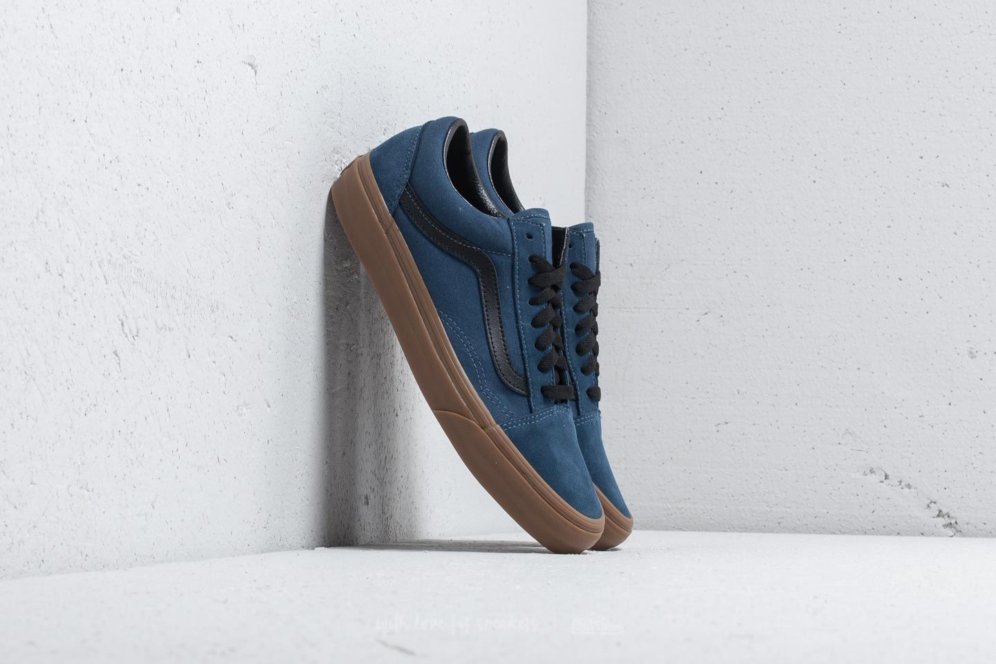 39d49020e7 Vans Old Skool (Gum Outsole) Dark Denim  Black