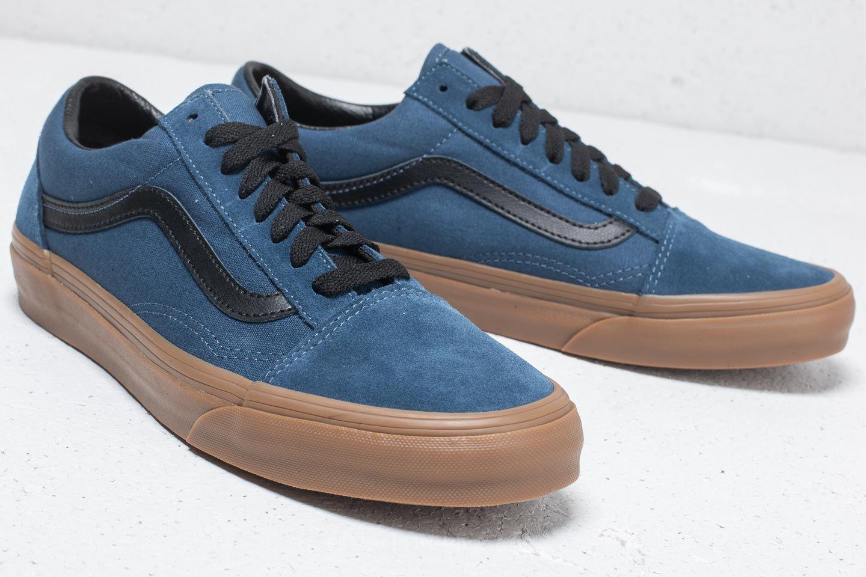 Vans Old Skool (Gum Outsole) Dark Denim Black   Footshop
