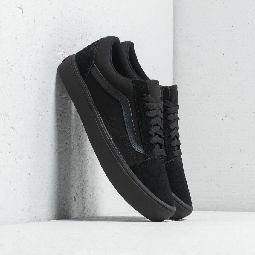 Vans Old Skool Lite (Suede/ Canvas) Black/ Black EUR 45