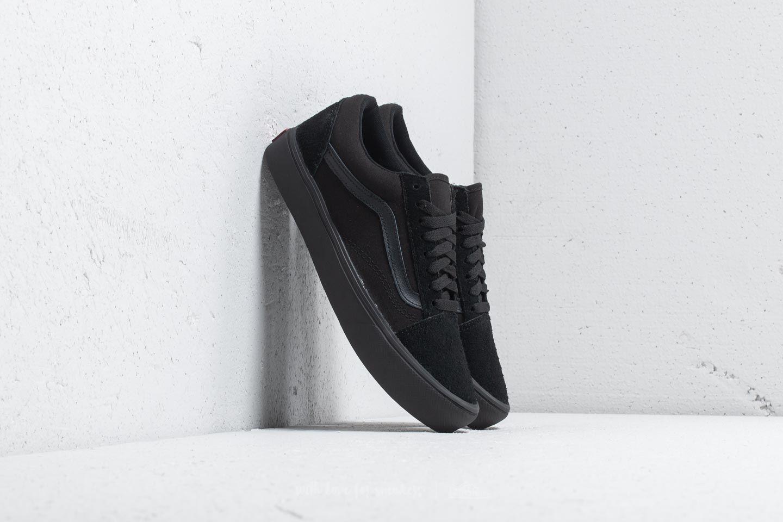 Vans Old Skool Lite (Suede Canvas) Black Black   Footshop