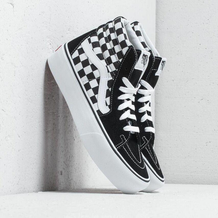 Vans Sk8-Hi Platform 2 Checkerboard/ True White EUR 38
