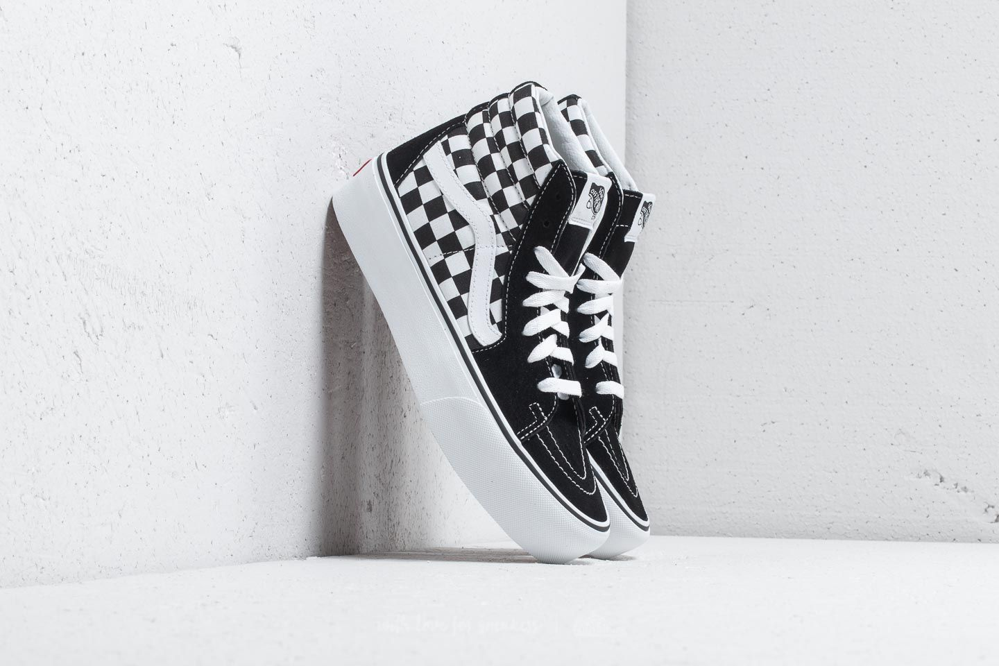 db6fd02c95 Vans Sk8-Hi Platform 2 Checkerboard  True White