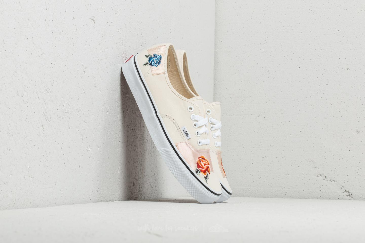 Vans Authentic (Satin Patchwork) Classic White True White | Footshop