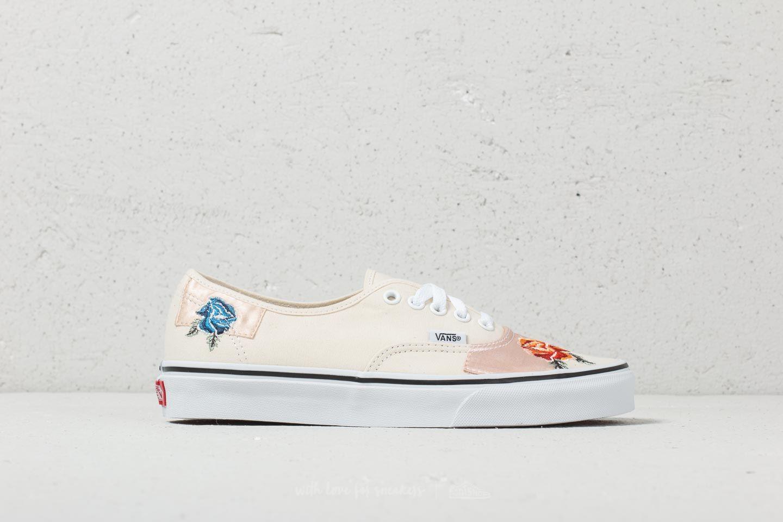 chaussures vans's en satin patchwork authentic