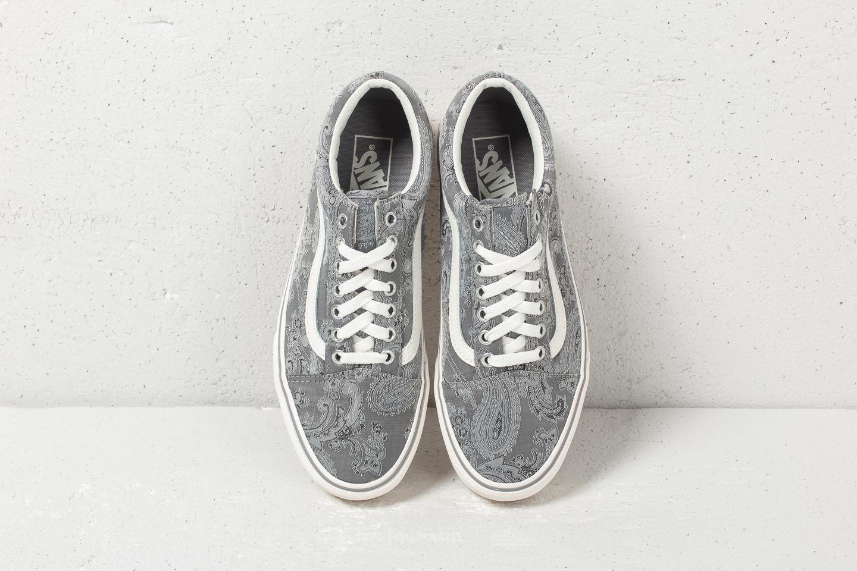 Vans Old Skool Platform (Satin Paisley) Gray Snow | Footshop