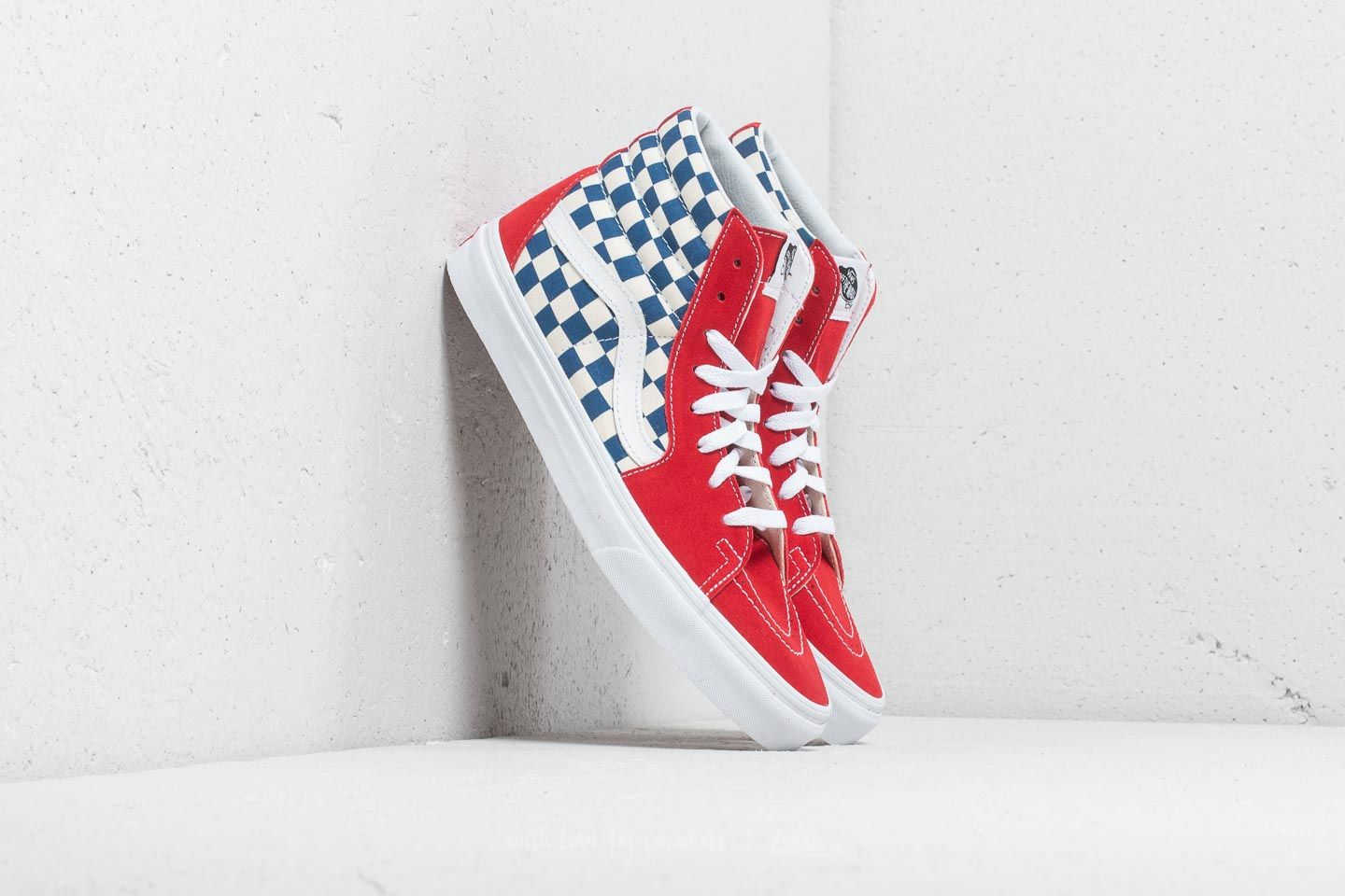 f11d70f93cc Vans Sk8-Hi (Bmx Checkerboard) True Blue  Red