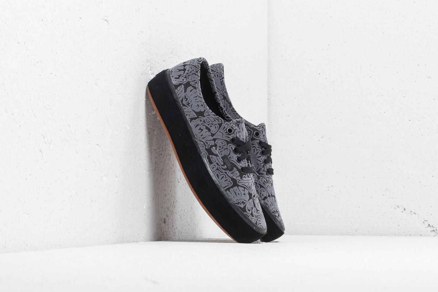 b8709bf4807 Vans Authentic Platform (Sidewall Wrap) Suede  Black at a great price £60