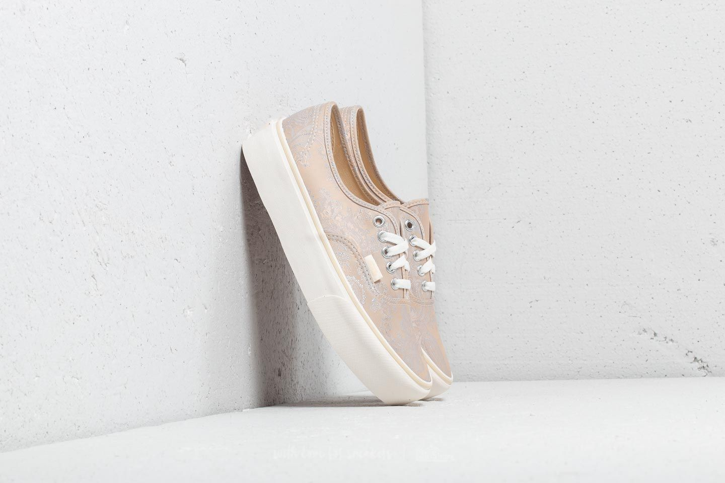31028d0a41d Vans Authentic Platform (Satin Paisley) Nude  Snow