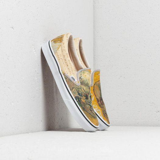 Men S Shoes Vans Classic Slip On Vincent Van Gogh Skull Letters Footshop