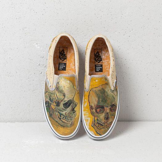 Herren Sneaker Und Schuhe Vans Classic Slip On Vincent Van Gogh Skull Letters Footshop