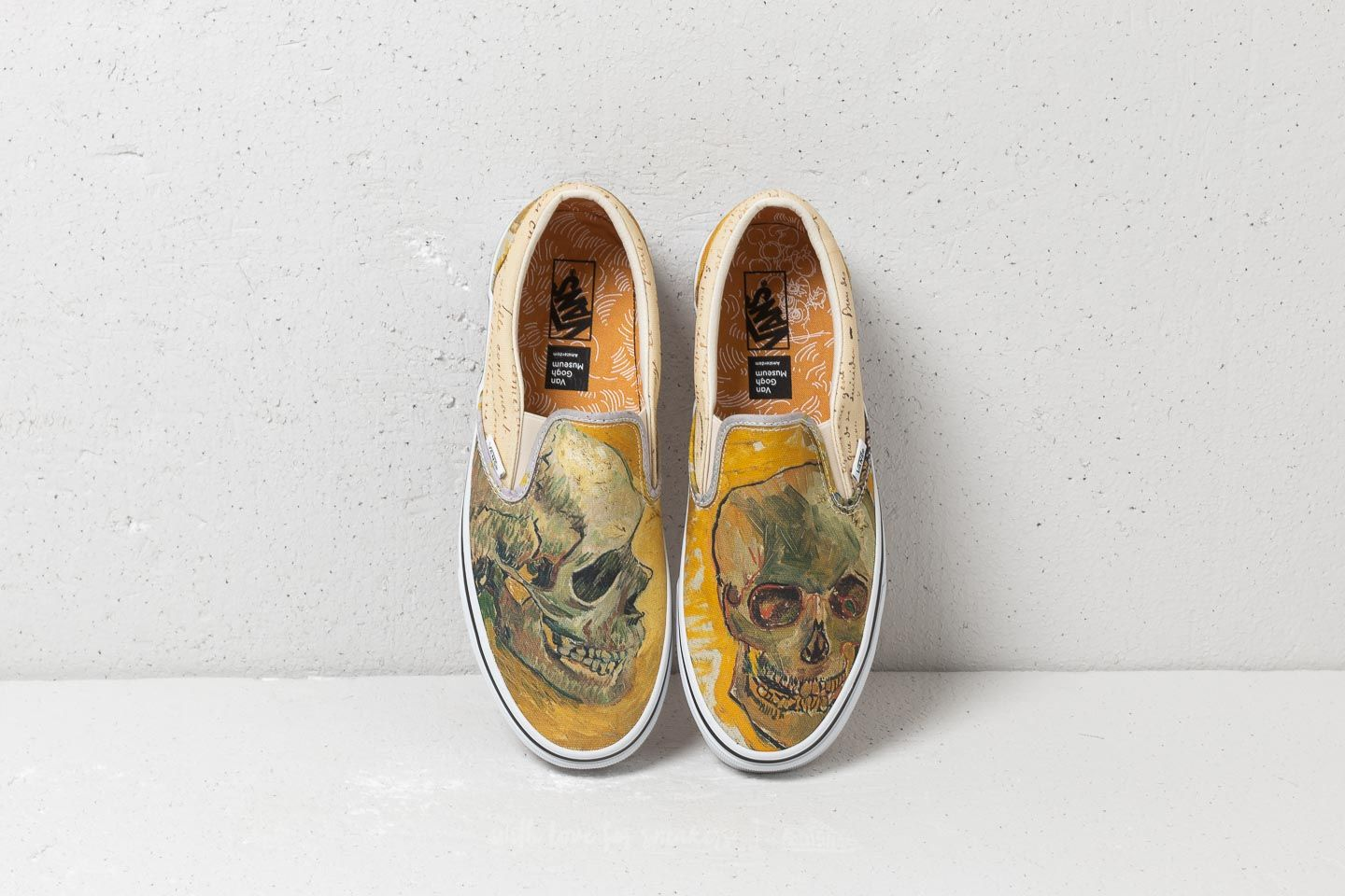 Men S Shoes Vans Classic Slip On Vincent Van Gogh Skull Letters Footshop