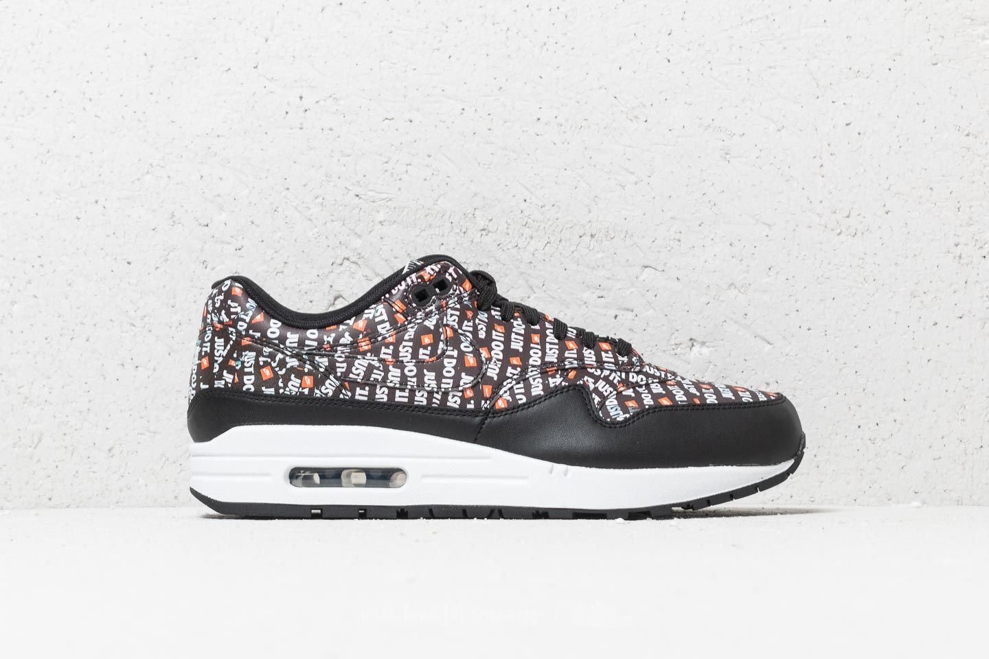 separation shoes ee59d ab5a7 Nike Air Max 1 Premium Black  White-Total Orange at a great price £