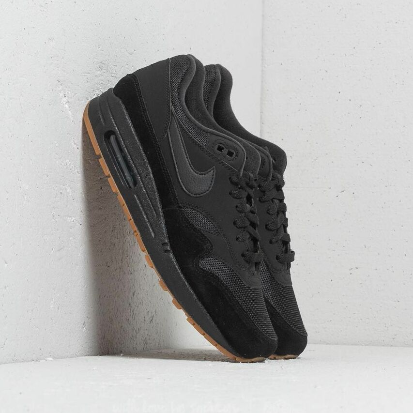 Nike Air Max 1 Black/ Black-Black-Gum Med Brown EUR 44