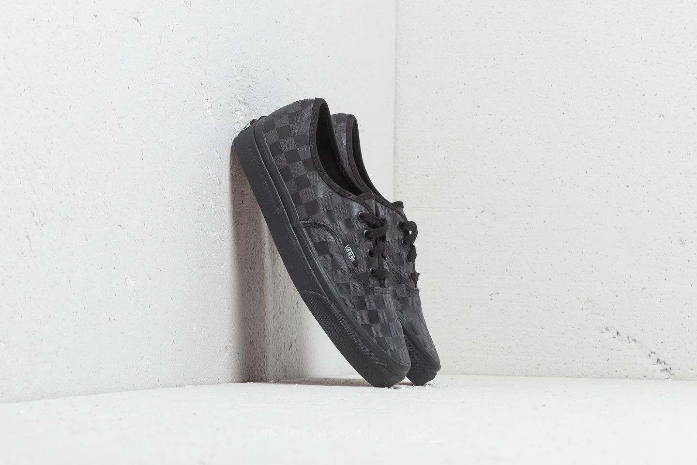 Pánské tenisky a boty Vans Authentic (High Density) Black/ Checkerboard