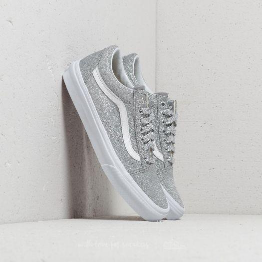 Vans Old Skool (Lurex Glitter) Silver True White | Footshop