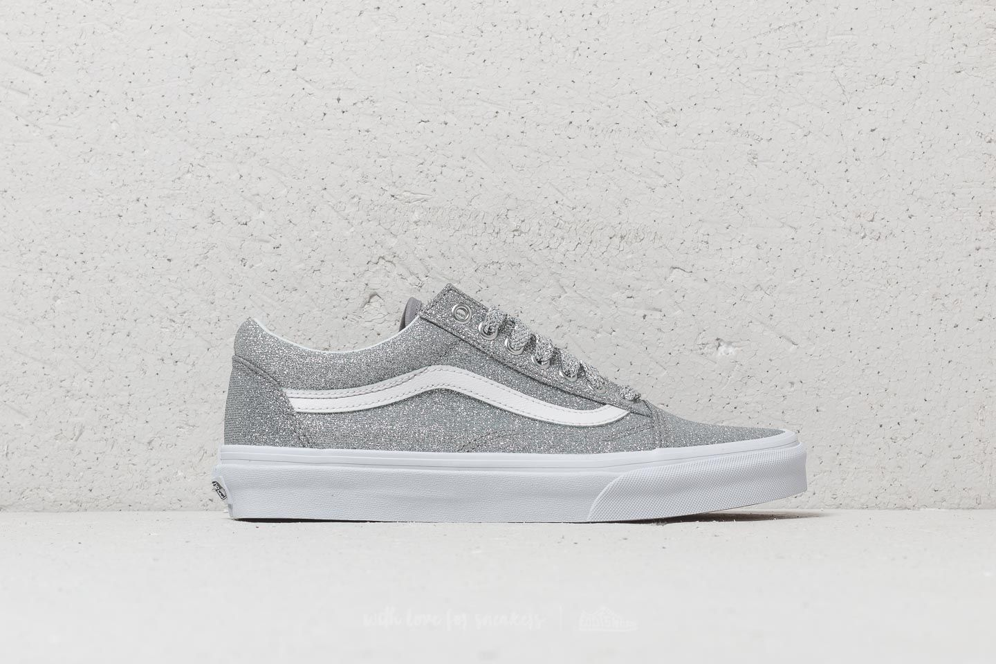 7c4b551d0e796a Vans Old Skool (Lurex Glitter) Silver  True White at a great price 68