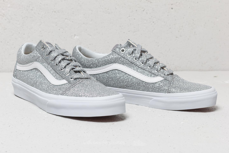 8017b3b845d2c Vans Old Skool (Lurex Glitter) Silver/ True White | Footshop