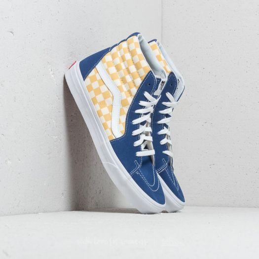 a1cc76b6cc0cb6 Vans Sk8-Hi (Bmx Checkerboard) True Blue  Yellow