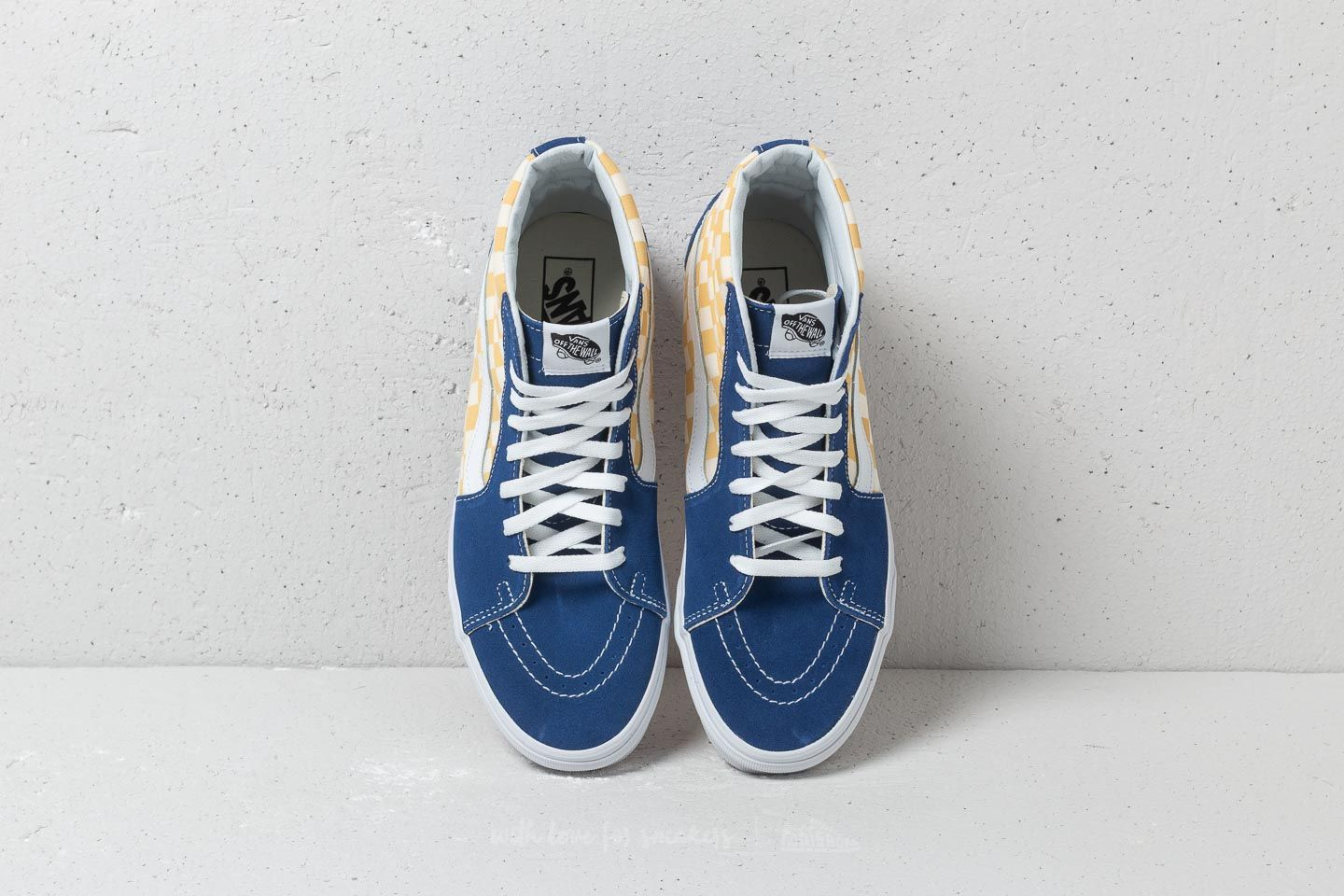 b341b20aea420a Vans Sk8-Hi (Bmx Checkerboard) True Blue  Yellow at a great price