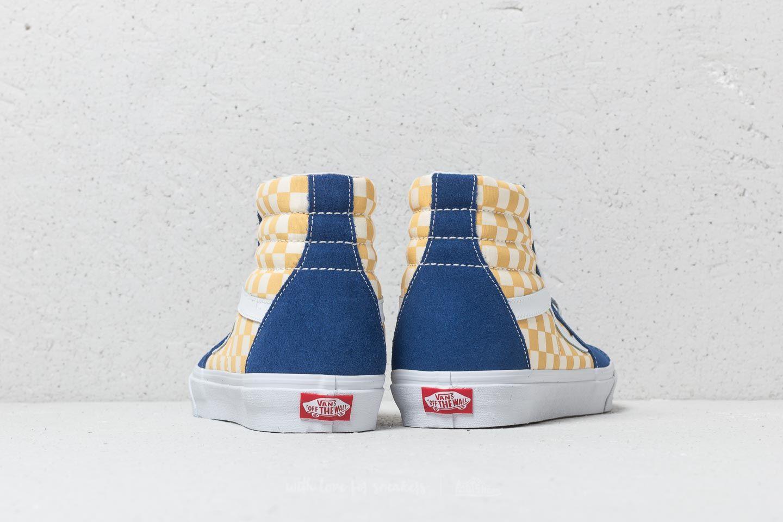 9b89d5acb4ea Vans Sk8-Hi (Bmx Checkerboard) True Blue  Yellow at a great price