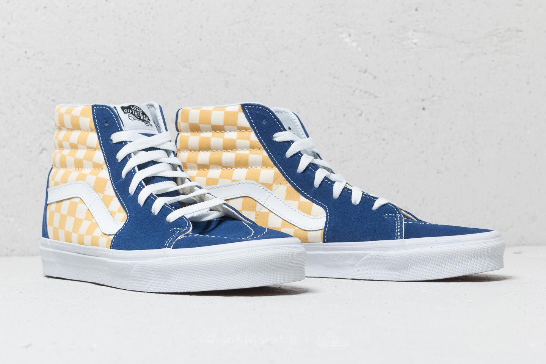 Vans Sk8-Hi (Bmx Checkerboard) True Blue  Yellow za skvělou cenu 1 c713d2a44b6