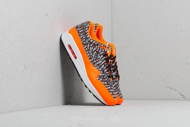 Nike Air Max 1 Premium Black/ Black-Total Orange-White