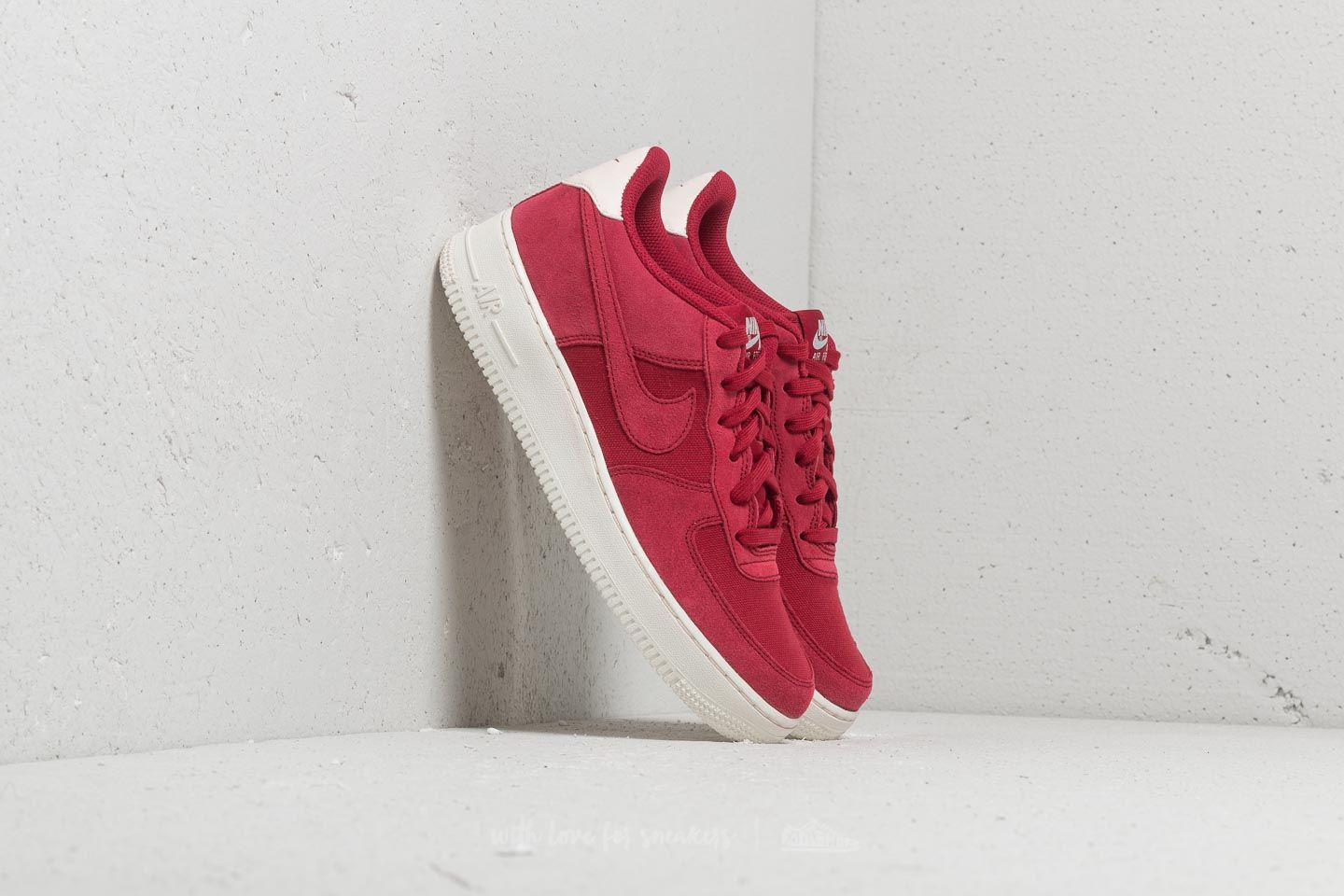 Nike Air Force 1 Suede Gs Red Crush Red Crush Sail Footshop