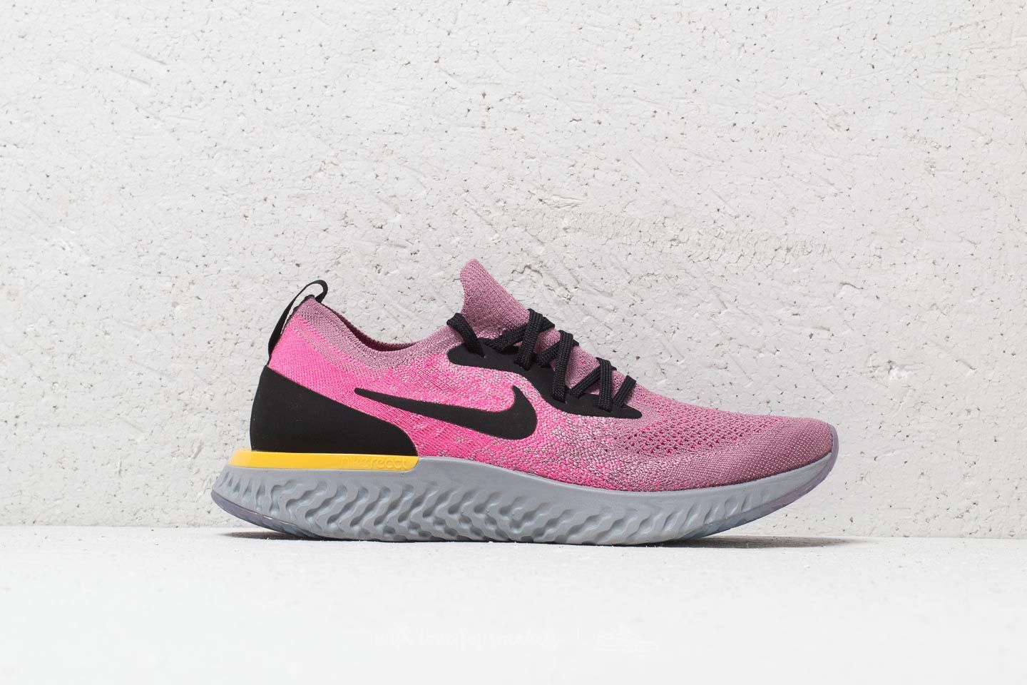 12b3bfdb1377 Nike Epic React Flyknit (GS) Plum Dust  Black-Pink Blast at a