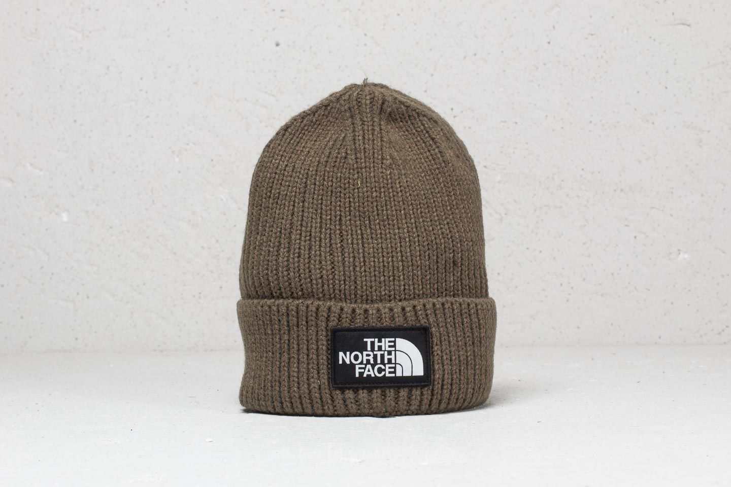 The North Face The Logo Box Cuffed Beanie New Taupe Green ... d506d0daf5c