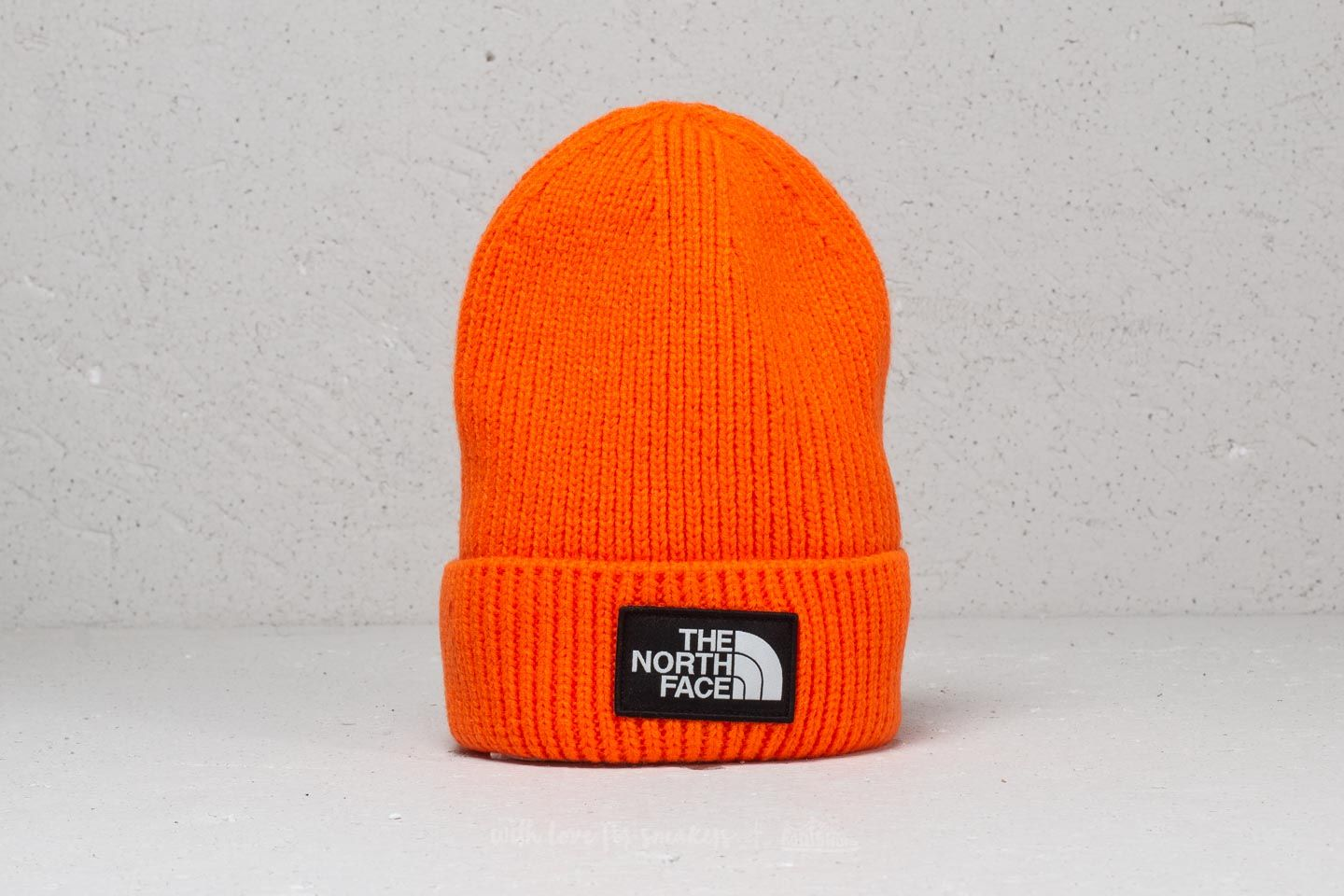 60f003bf19653 The North Face The Logo Box Cuffed Beanie Persian Orange | Footshop