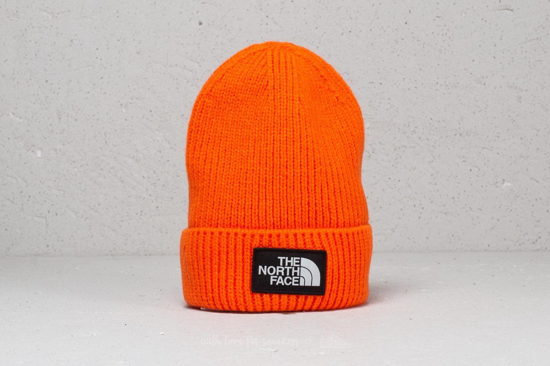 96a37e4c2b3 The North Face The Logo Box Cuffed Beanie Persian Orange