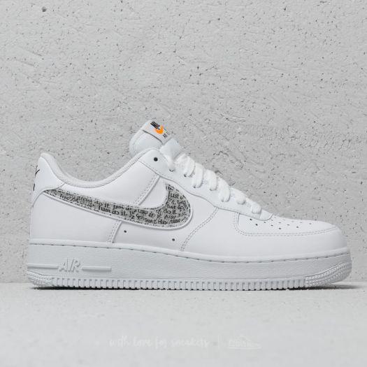 Nike Air Force 1 ´07 LV8 JDI LNTC White White Black Total Orange | Footshop