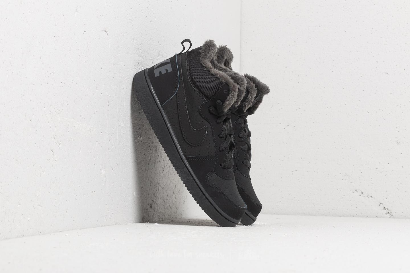 ca86103a258 Nike Court Borough Mid Winter (GS) Black  Black-Anthracite