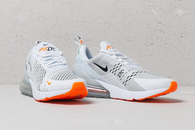 uk availability a2fd1 ef26e Nike Air Max 270 White/ Black-Total Orange | Footshop