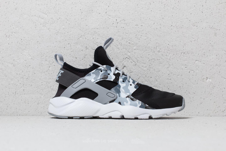 Nike Air Huarache Run Ultra Print (GS) Black Wolf Grey Dark Grey   Footshop