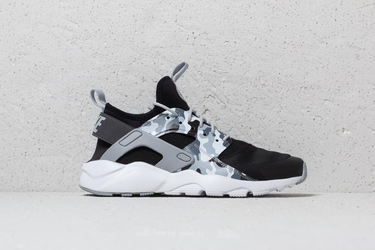 14e6f742ba22 Nike Air Huarache Run Ultra Print (GS) Black  Wolf Grey-Dark Grey ...