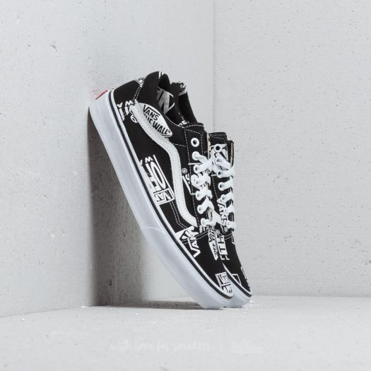 Vans Old Skool (Logo Mix) Black True White | Footshop