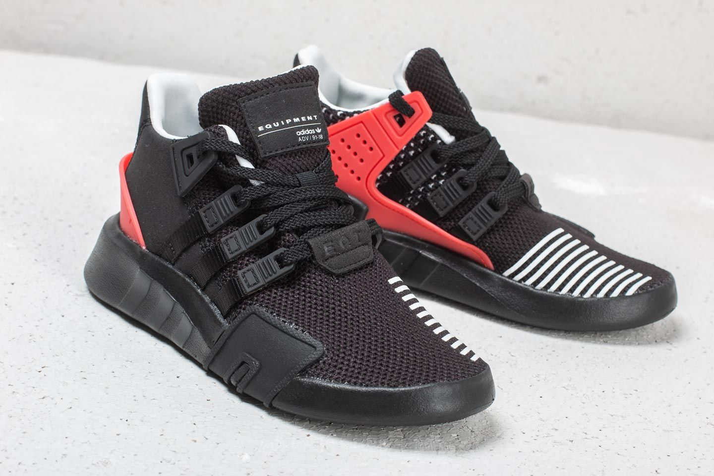 Adidas EQT Bask ADV C Core Black  Cloud White  Hi-Res Red at f887a8798