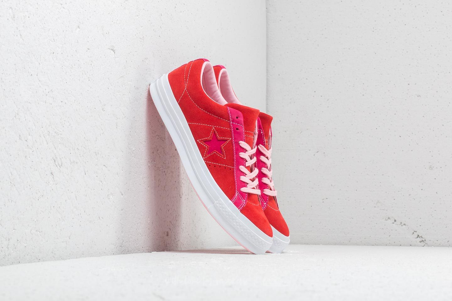 Converse One Star Ox Enamel Red  Pink Pop at a great price £76 buy 78d5a6845