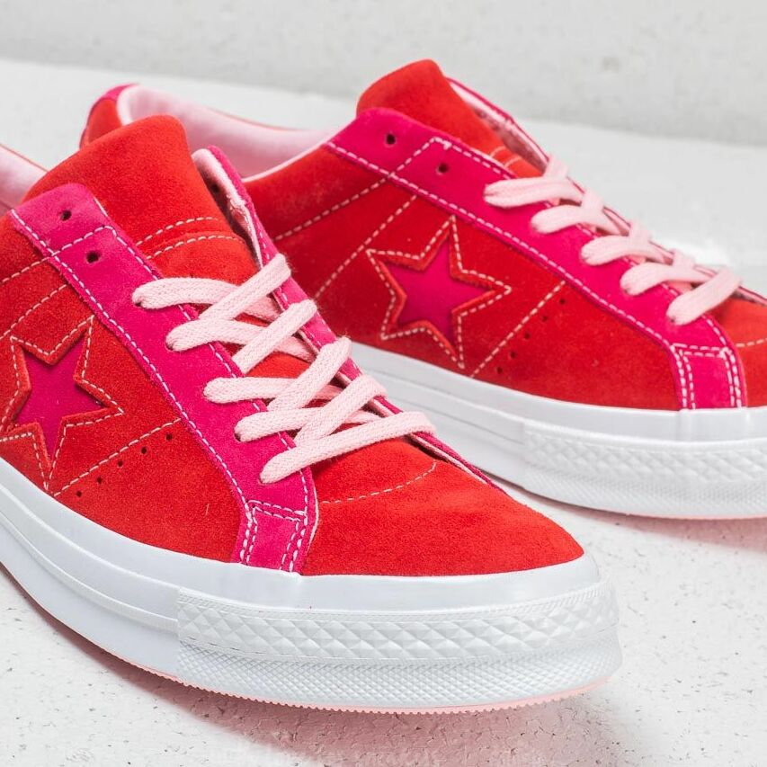 Converse One Star Ox Enamel Red/ Pink