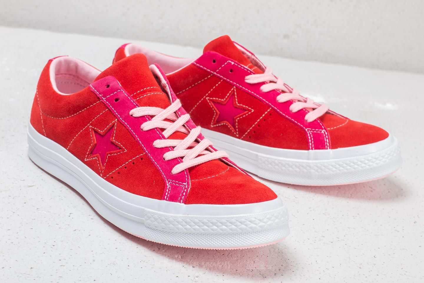Converse One Star Ox Enamel Red  Pink Pop at a great price £76 buy 0a52d8a033e