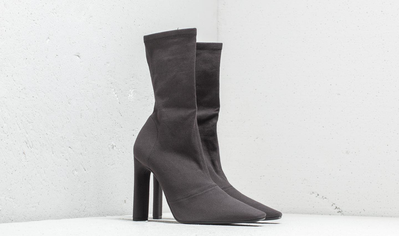 Yeezy Season 7 Stretch Canvas Ankle Boot Graphite, Black